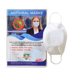 Sublimasyon Çocuk Beyaz Biyeli Maske+Broşür+Poşet - Thumbnail