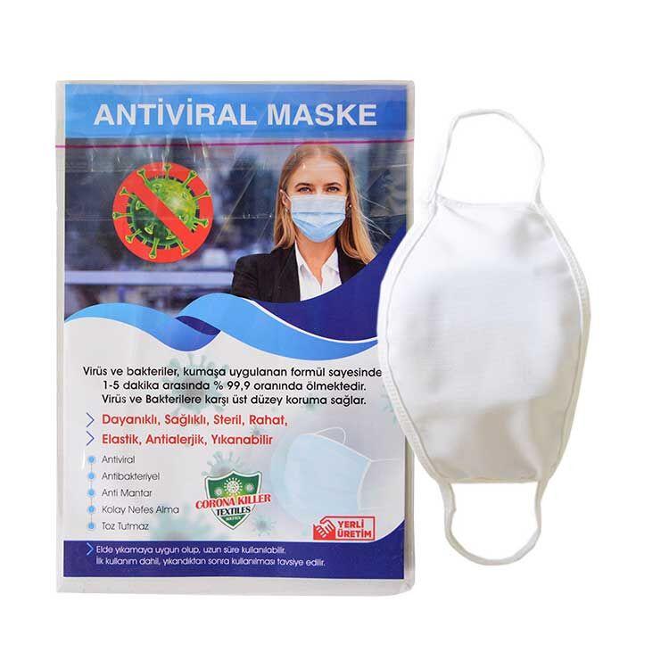 Sublimasyon Çocuk Beyaz Biyeli Maske+Broşür+Poşet