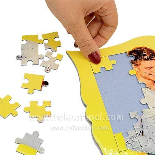 Sublimasyon Dekoratif 63 Parça A4 Puzzle, Pazıl