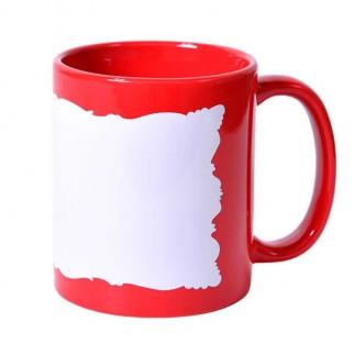 Sublimasyon Dekoratif Kırmızı Kupa Bardak - Kutulu - Thumbnail