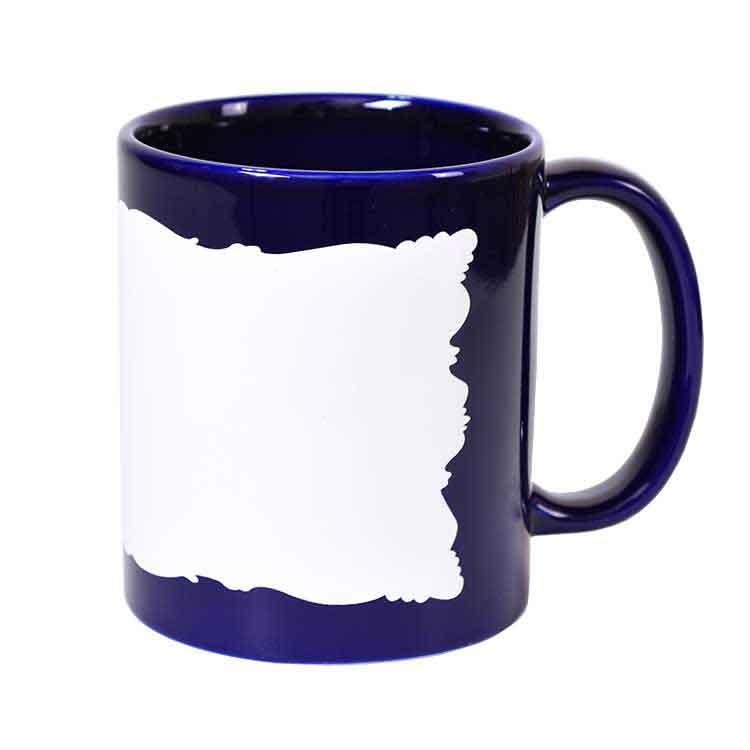Sublimasyon Dekoratif Mavi Kupa Bardak