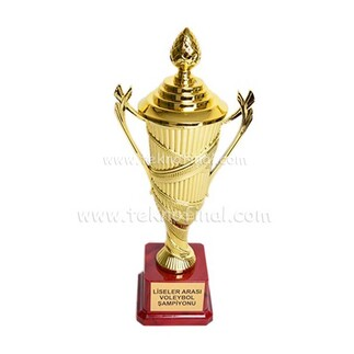 Sublimasyon Fiyong Dizaynlı Ödül Kupası 28 Cm - Thumbnail