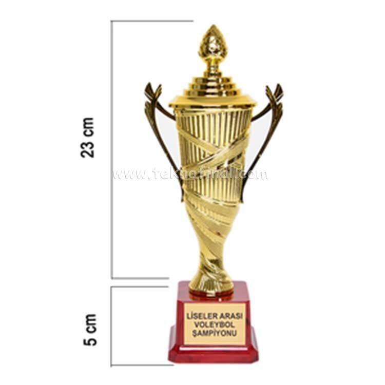 Sublimasyon Fiyong Dizaynlı Ödül Kupası 28 Cm
