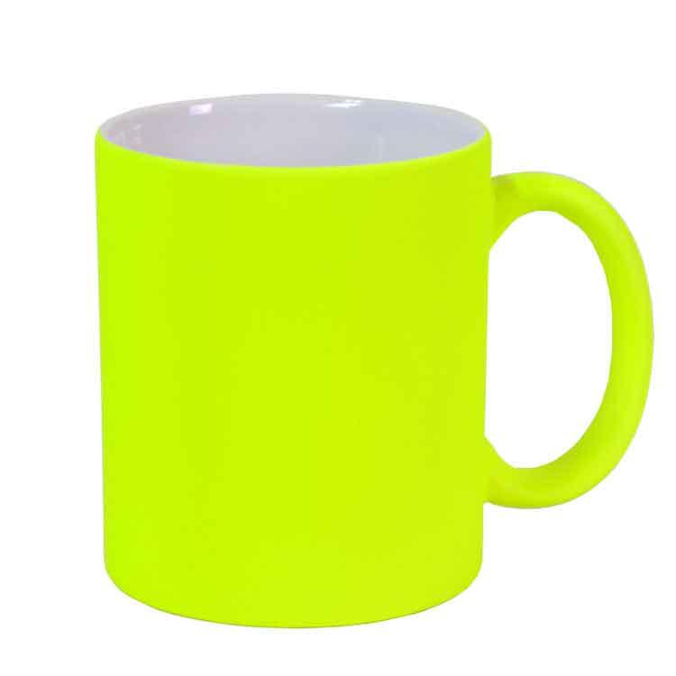 Sublimasyon Fosforlu Yeşil Kupa Bardak