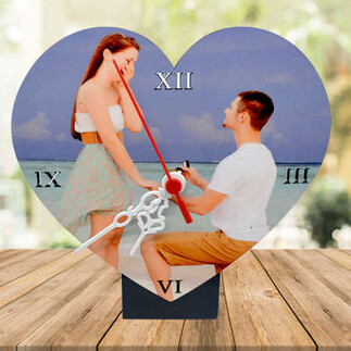 - Sublimasyon Hdf Standlı Kalp Masa Saati (1)