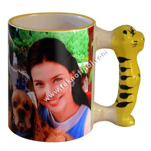 Sublimasyon İthal Kaplan Kulplu Kupa (Tiger) - Kutulu