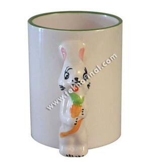 Sublimasyon İthal Tavşan Kulplu Kupa (Rabbit) - Kutulu - Thumbnail