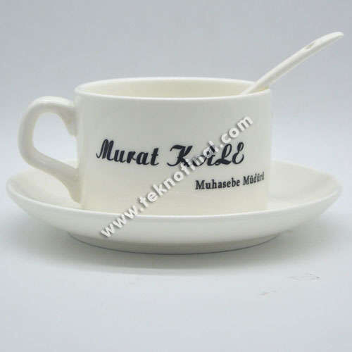 Sublimasyon Porselen Kahve Fincan Seti - Kutulu