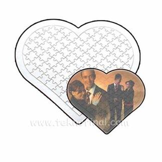 Sublimasyon 81 Parça A4 Kalp Puzzle, Pazıl - Thumbnail
