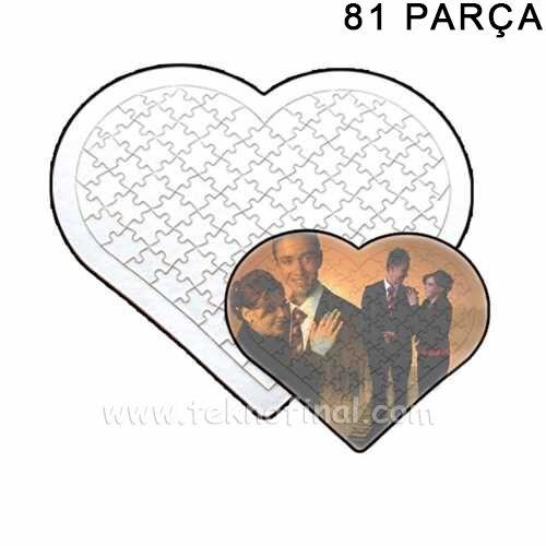 Sublimasyon 81 Parça A4 Kalp Puzzle, Pazıl