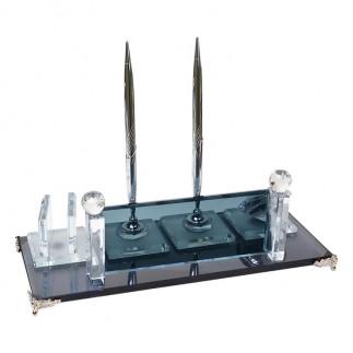 NobbyStar - Sublimasyon Kristal Masa İsimliği - Gümüş (1)