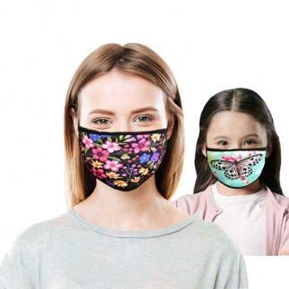 Sublimasyon Siyah Biyeli Yıkanabilir Maske - Çocuk Ve Yetişkin - Thumbnail