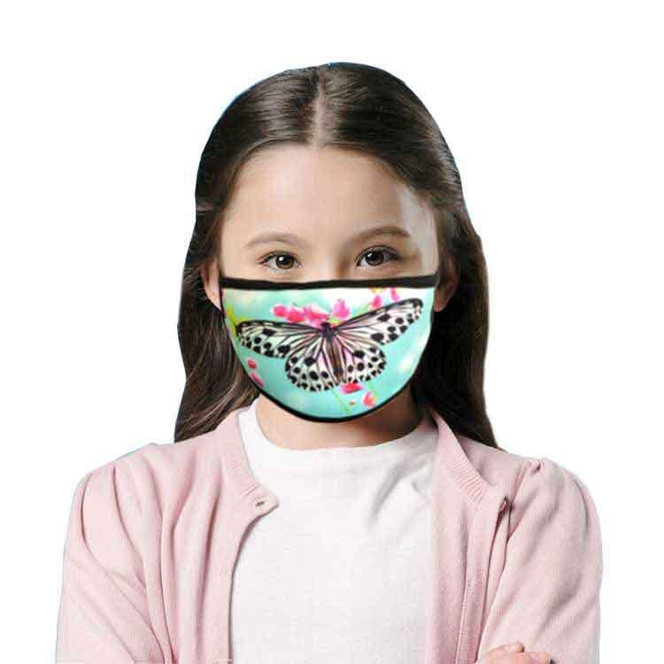 Sublimasyon Siyah Biyeli Yıkanabilir Maske - Çocuk Ve Yetişkin