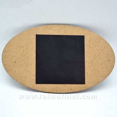 Sublimasyon 9x14 Oval Ahşap Magnet