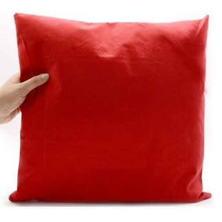 Best Hediye - Sublimasyon Sarı Arabalı Kırmızı Kare Süet Yastık (1)