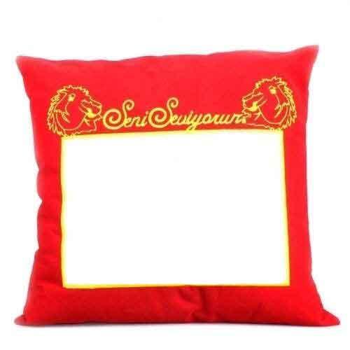 Sublimasyon Sarı Kırmızı Yastık