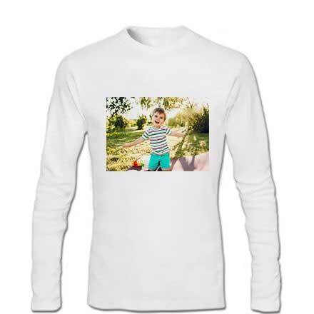 Sublimasyon Çocuk-Yetişkin Pamuk-Polyester Uzun Kol Tişört
