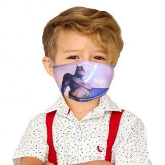 Sublimasyon Beyaz Biyeli Yıkanabilir Maske - Çocuk ve Yetişkin - Thumbnail