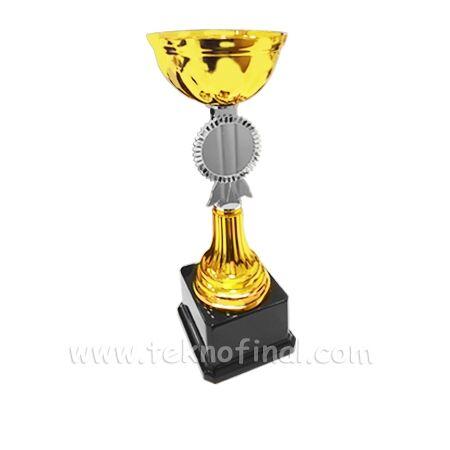 Gold - Altın Renk Sublimasyon Ödül Kupası 24,5Cm