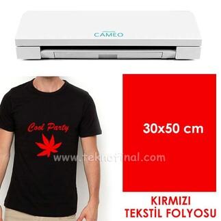 - Kırmızı Tekstil Folyosu (30x50cm)