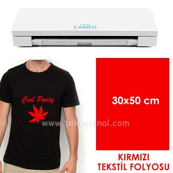 Kırmızı Tekstil Folyosu (30x50cm)