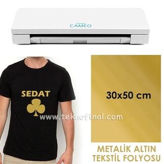 - Metalik Altın Tekstil Folyosu (30x50)