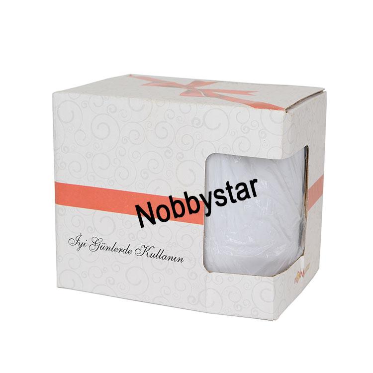 NobbyStar - Sublimasyon Porselen Kulpu ve İçi Turuncu Kupa - Kutulu (1)