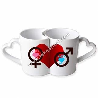 NobbyStar - Sublimasyon Porselen Beyaz Sevgili Kupası - Kutulu (1)