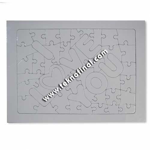 Sublimasyon 48 Parça Love Motifli A4 Puzzle, Pazıl