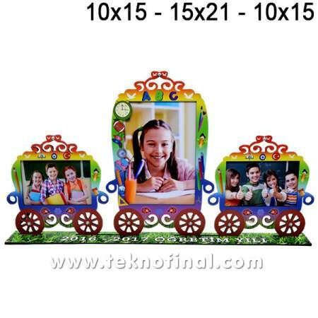 3'lü Vagon Çift (10x15) + (15X21) Okul Çerçevesi