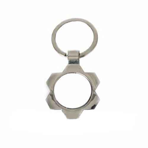 Yuvarlak Metal Puzzle Anahtarlık (HC40L)